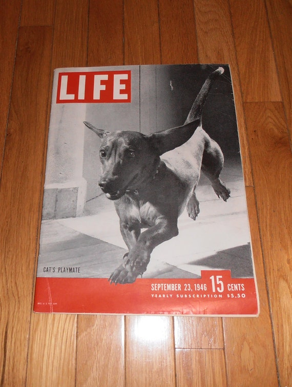Vintage Life Magazine September 23, 1946 with a featured piece on Ted Williams inside.