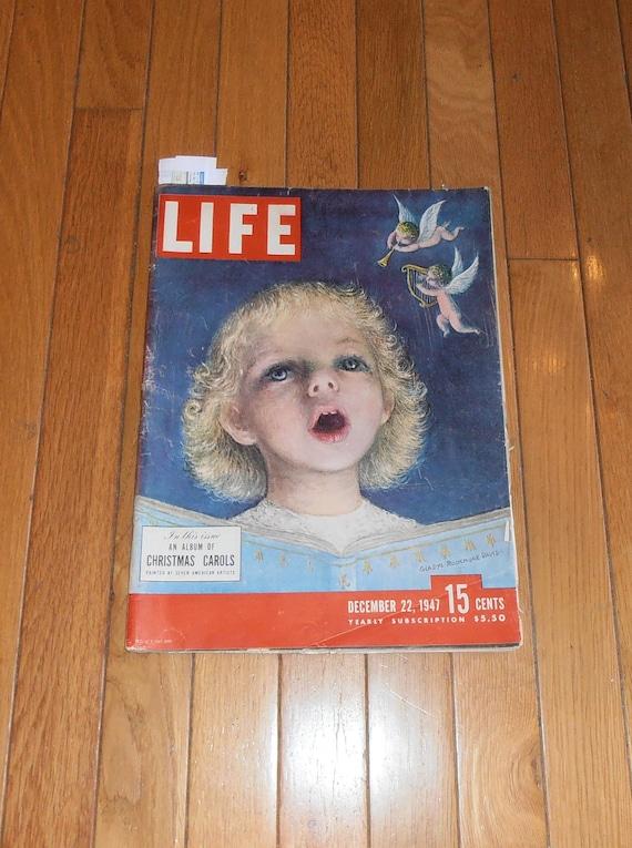 Vintage Magazine -  Life Magazine December 22, 1947 - Christmas Carols - Xmas Paintings Themed - Duke of Windsor