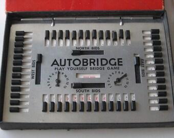 Vintage AutoBridge Game - Copyright 1950 by the Autobridge Company New York