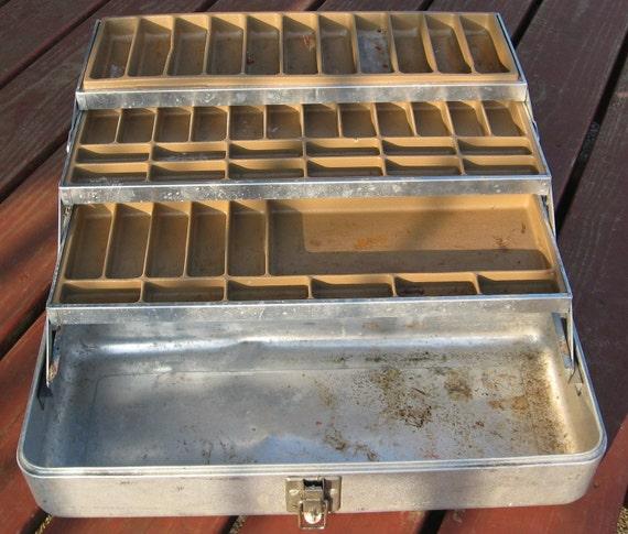 Vintage Tackle Box, Aluminum