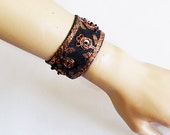 Ethnic Tribal bracelet Vintage Style Hand Embroidered-TURKISH embroidered authentic vintage bracelet- OOAK