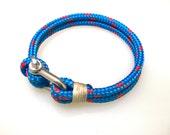 Women's Bracelet Men's Bracelet Jewelry Bracelets Nautical Sailing Bracelet  Stainless steel  Shackle Rope Bracelet Paracord Bracelet- Blue3