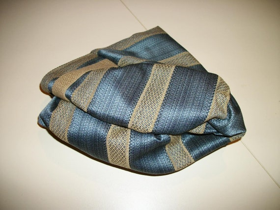 Zafu Meditation Cushion.  Blue Striped Tapestry. Budget Priced. COVER ONLY. Made by a Small Business in the USA