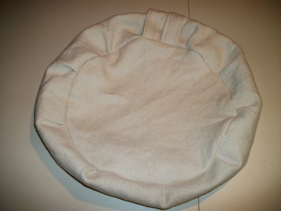 Zafu Meditation Cushion.  Heavy Off White Cotton. Budget Priced. COVER ONLY. Made by a Small Business in the USA