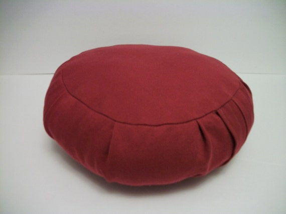 Zafu Meditation Cushion. Red Twill. Child or Tiny Adult size. COVER ONLY.
