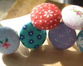 Fabric Button Adjustable Ring