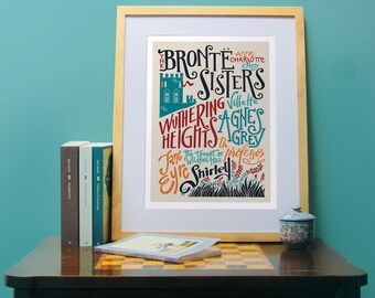 The Bronte Sisters bibliography print (12,60 x 18,10)