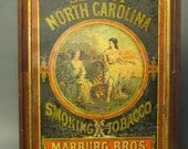 Wonderful antique 1871 TIN Seal of North Carolina from Library of Congress, Washington, DC