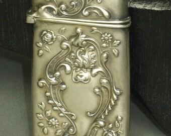 Ladies MATCH SAFE Vesta prior to 1920 -- Art Nouveau -- STERLING