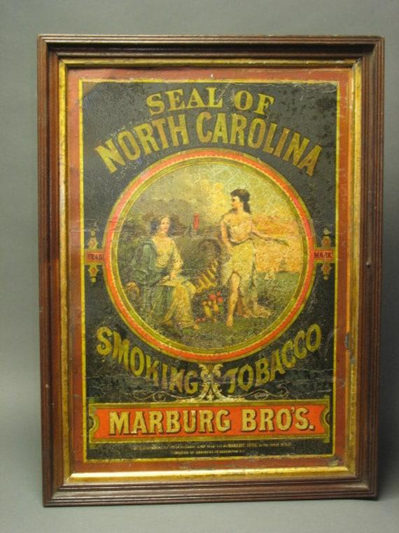 Wonderful antique 1871 TIN Seal of North Carolina from Library of Congress, Washington, DC