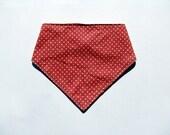 triangular Baby Bib Bibdana teething/ Drooling and Snap Closure- pink dot