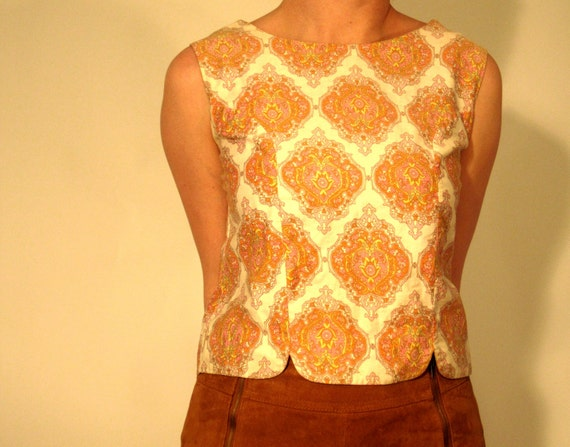 SALE /// 60s Bohemian Cropped Shell