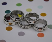 Stackable Ring Alternative - Hand Stamped Spinner Ring
