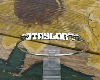 Name Bracelet - Personalized Bracelet - Name Bangle