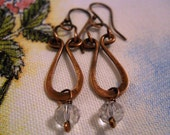 Brushed Copper Earrings - Celtic Jewelry