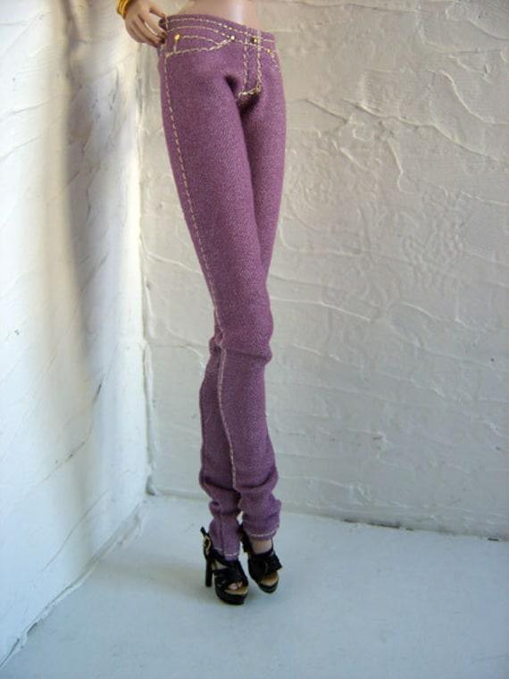 Denim Skinny Magenta jeans for Fashion Royalty by DMA -LIMITED EDITION-