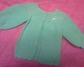 sz 12-18mo mint green sweater /coat