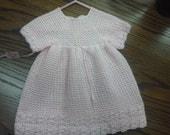 soft pink dress sz 12 to 18 mo