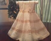 elegant crochet dress sz 2