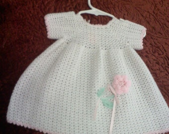 Sz 6-9 mo soft crochet dress