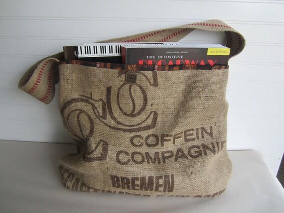 Burlap Coffee Tote Bag