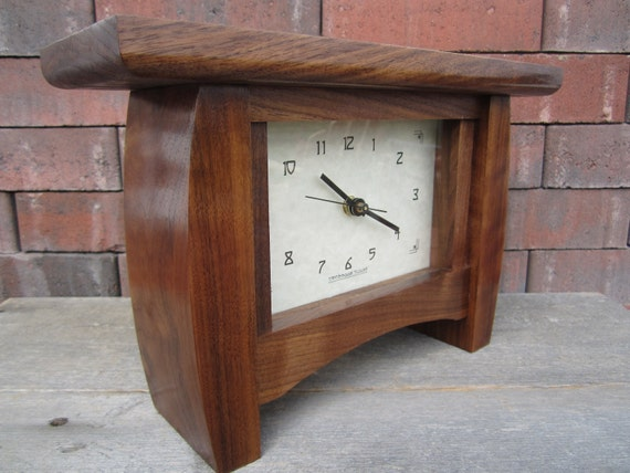 Bungalow Mantle Clock, Arts and Crafts Clock, Mantle Clock, Clock, Bungalow Clock, Fireplace Clock