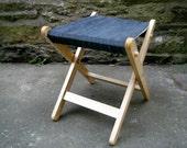 Folding Wooden Camping Chair Seat Recliner Alcantara Bye Brytshi
