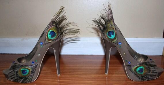 Mohawk Peacock Heels Size 8