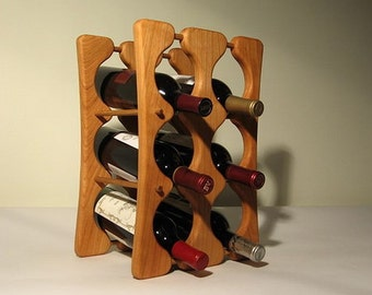 Hand-crafted solid wood wine racks