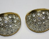Vintage Earrings Pave Rhinestone Statement Couture