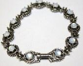 Vintage Moonstone  Bracelet 1970s Jewelry