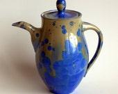 Deep Blue Crystalline Teapot