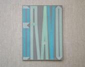 jumbo card - bravo in blue