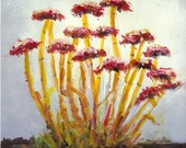 Red Seed Heads - Original Landscape Painting