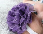 15% Off, Baby Flower Headband, Baby Girl Flower Headband, Baby Headband, Infant Headbands, Flower Headbands, Baby Girl Bow, purple lace