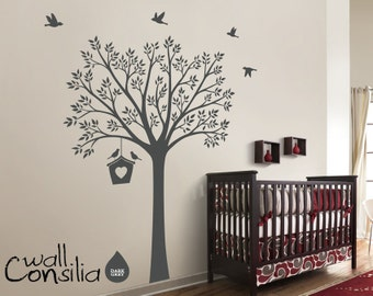 "Nursery Tree Wall Decal Wall Sticker - Tree Wall Decal - Tree Decals - Large: approx 73"" x 53"" - W035"