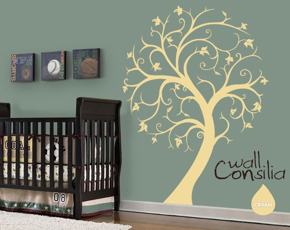 "Nursery Tree Wall Decal Wall Sticker - Tree Wall Decal - Tree Decals - Large: approx 72"" x 54"" - W026"