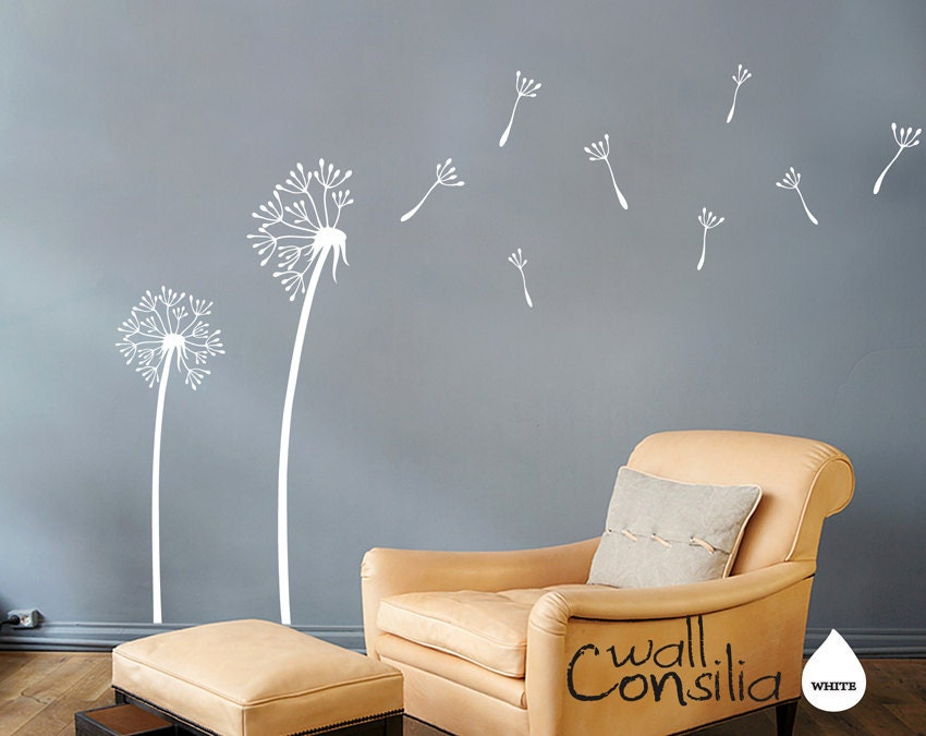 Dandelion Wall Decal Dandelion Wall Sticker Dandelions in