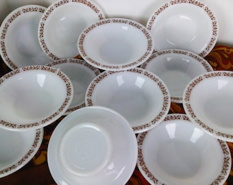 Anchor Hocking Anchorware Filigree Cafe Style Bowls Restaurantware Set of 12 Trending Vintage