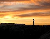 """Salt Flats Sunset Photo in Mat - Fits 5x7"""" Frame"""