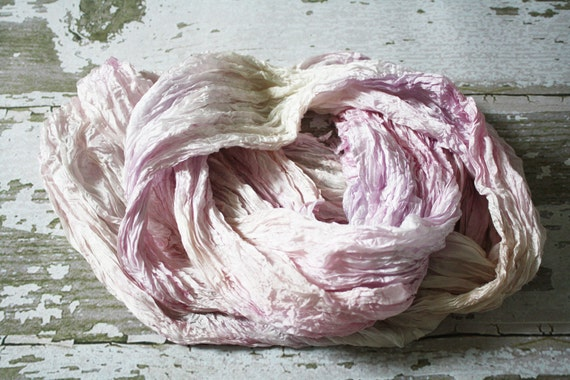 pink silk scarf - Light Blush - light pink, beige, lavender silk scarf.