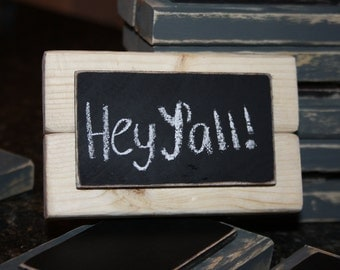 Chalkboard Place Cards - Table Markers - Natural Wood - Set of 4