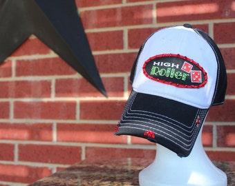 Las Vegas High Roller  Baseball Style Hat.... EXTRA Bling/Rhinestones