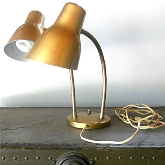 Mid Century Modern Double Lamp Flex Arm Wall Lamp - Has a Three Way Switch