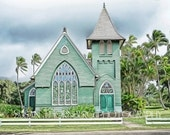 "Hanalei Church in Kauai Hawaii Fine Art Photography  8"" x 10"""