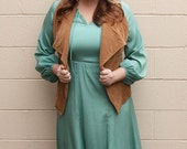 Vintage Teal Silk Dress