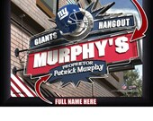 New York Giants Personalized Hangout Sign Photo