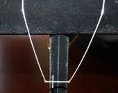 Sterling Silver .925 Sideways Cross Necklace