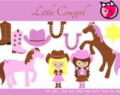 Cowgirl Clip art Commercial and Personal Use