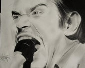 Original Graphite drawing of Mike Patton.